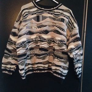Vintage Oversized Biggie Style Grandpa Sweater